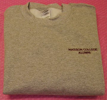 Nasson College Alumni Gray Sweatshirt